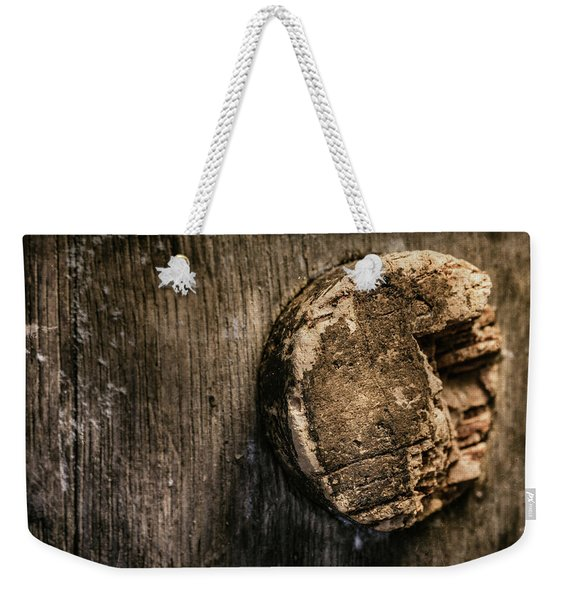 Antique Wine Barrel Cork Weekender Tote Bag