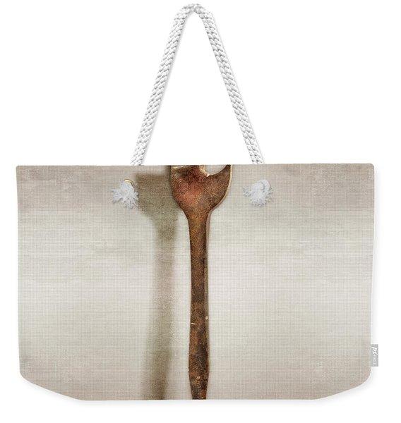 Antique Wood Bit Weekender Tote Bag