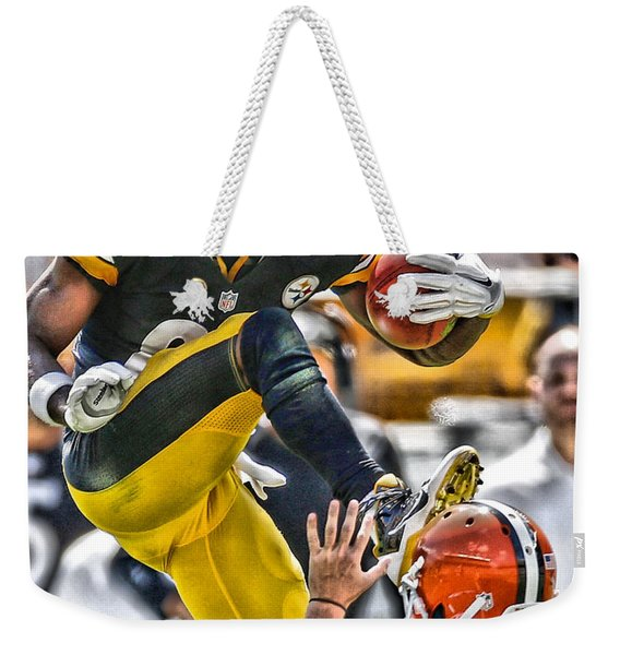Antonio Brown Steelers Art 5 Weekender Tote Bag