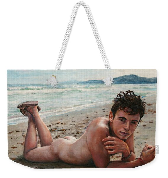Antonio En La Playa Weekender Tote Bag