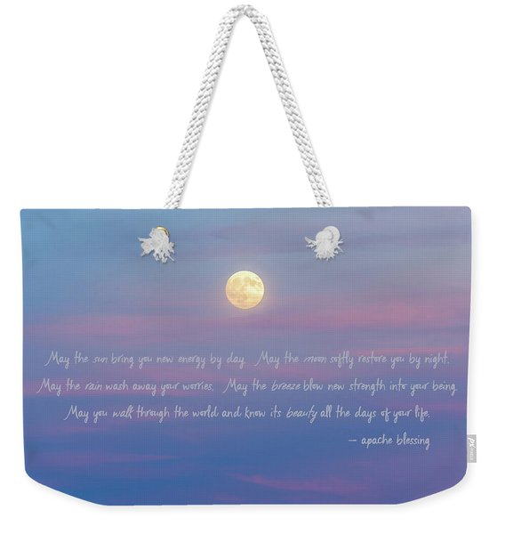 Apache Blessing Harvest Moon 2016 Weekender Tote Bag