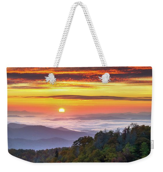 Appalachian Mountains Asheville North Carolina Blue Ridge Parkway Nc Scenic Landscape Weekender Tote Bag