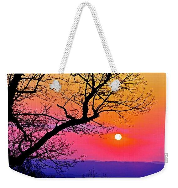 Appalcahian Sunset Tree Silhouette  #1 Weekender Tote Bag