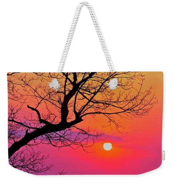 Appalcahian Sunset Tree Silhouette #2 Weekender Tote Bag