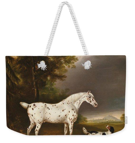 Appaloosa Horse And Spaniel Weekender Tote Bag
