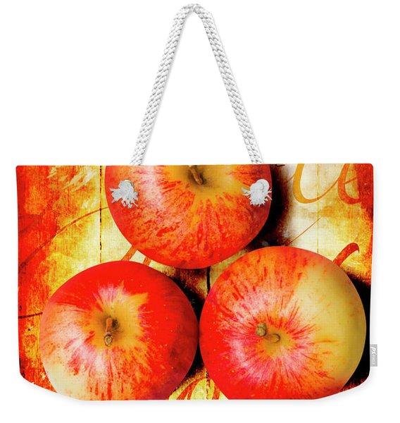 Apple Barn Artwork Weekender Tote Bag