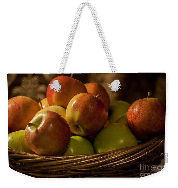 Apple Basket Weekender Tote Bag