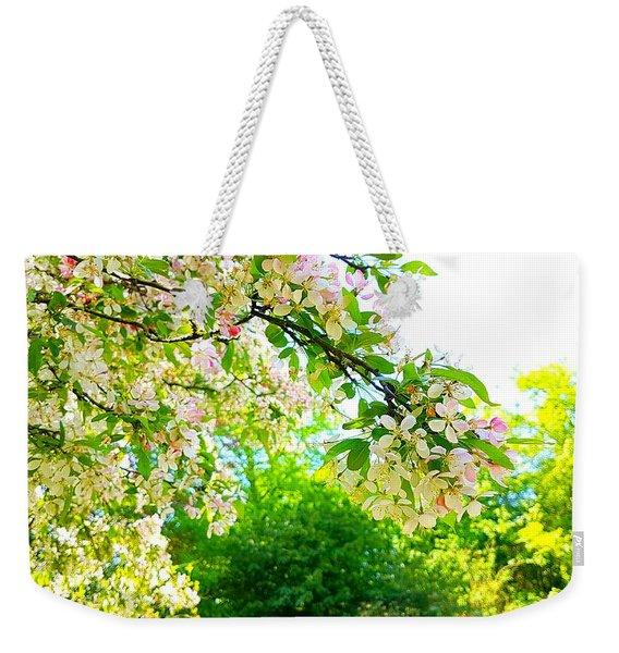 Apple Blossom Crisp Weekender Tote Bag