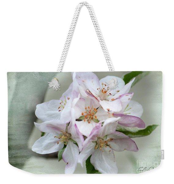 Apple Blossoms From My Hepburn Garden Weekender Tote Bag