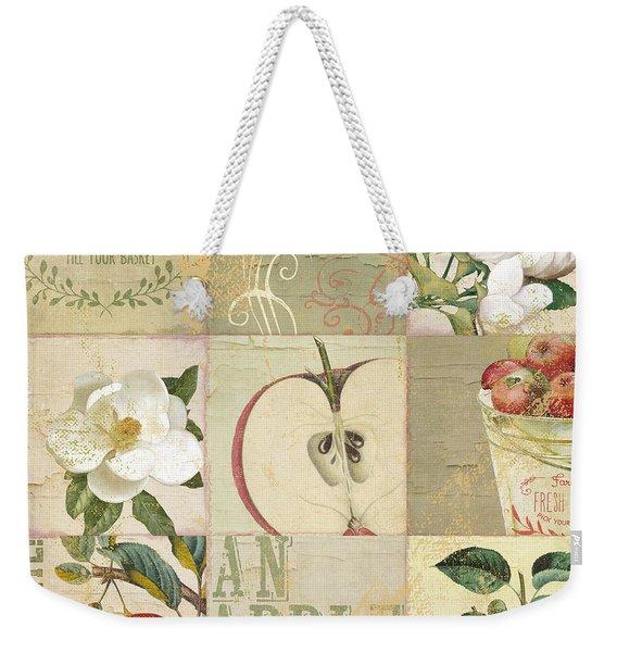 Apple Blossoms Patchwork I Weekender Tote Bag