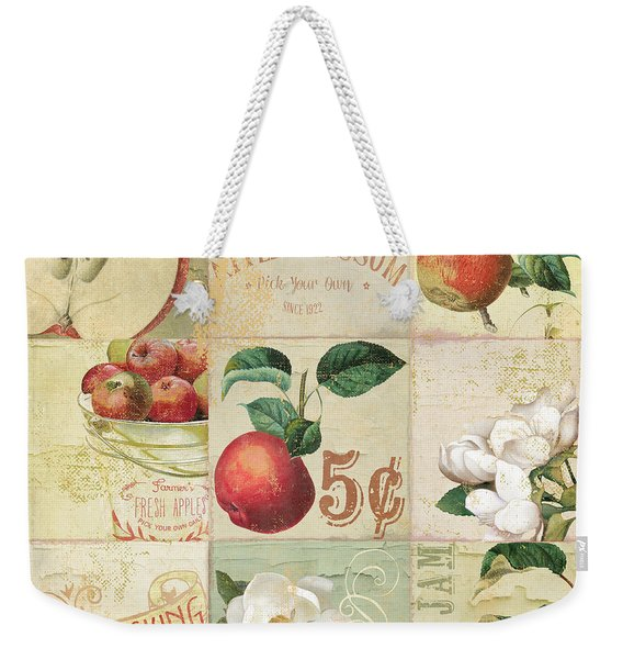 Apple Blossoms Patchwork II Weekender Tote Bag