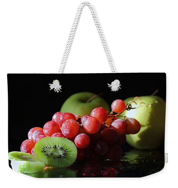 Apples, Grapes And Kiwi  Weekender Tote Bag