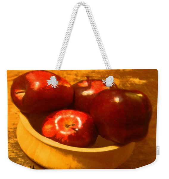 Apples In A Bowl Weekender Tote Bag