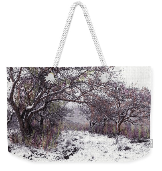 Weekender Tote Bag featuring the photograph Apples Of The Asquamchumaukee by Wayne King