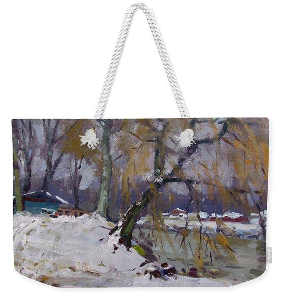 April Snow Storm Weekender Tote Bag