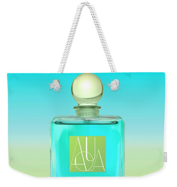Aqua Art Deco Perfume Bottle Weekender Tote Bag