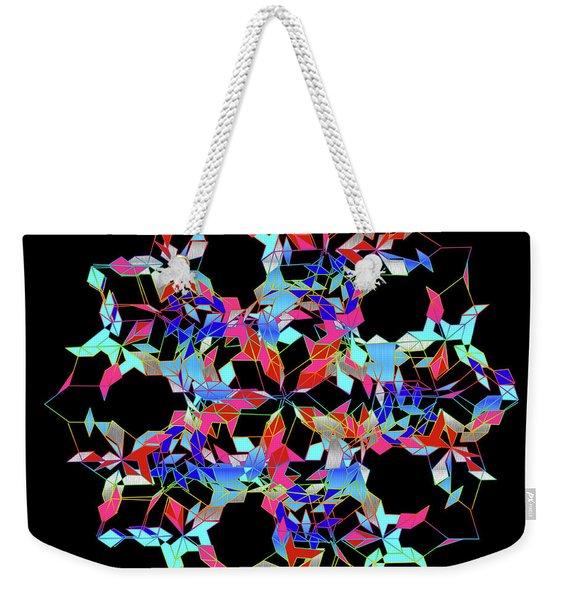 Aqua Extreme Mandala Weekender Tote Bag