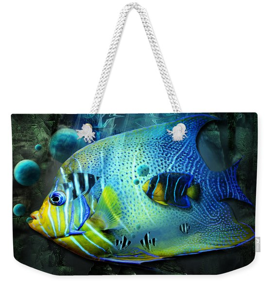 Aqua Fantasy Art World Weekender Tote Bag