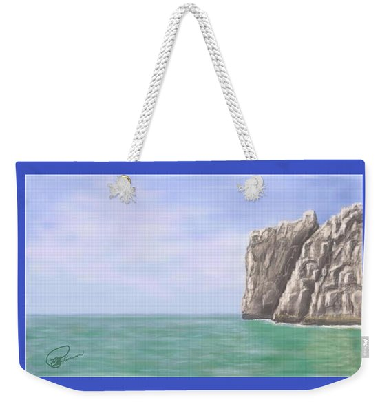 Aqua Sea Weekender Tote Bag