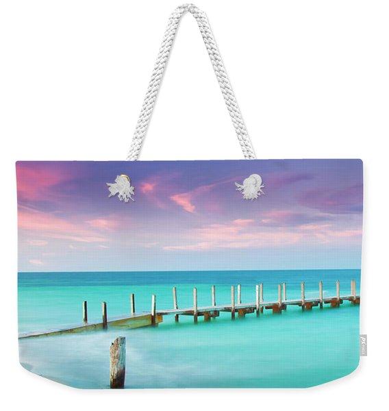 Aqua Waters  Weekender Tote Bag