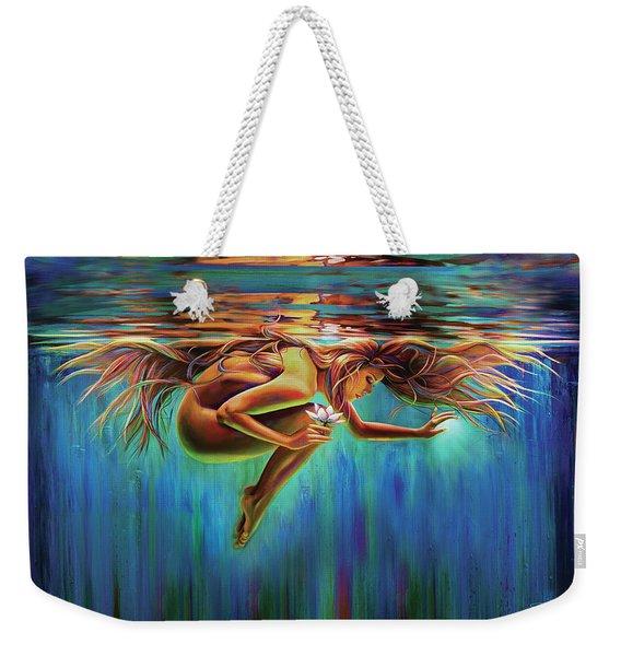 Aquarian Rebirth II Divine Feminine Consciousness Awakening Weekender Tote Bag