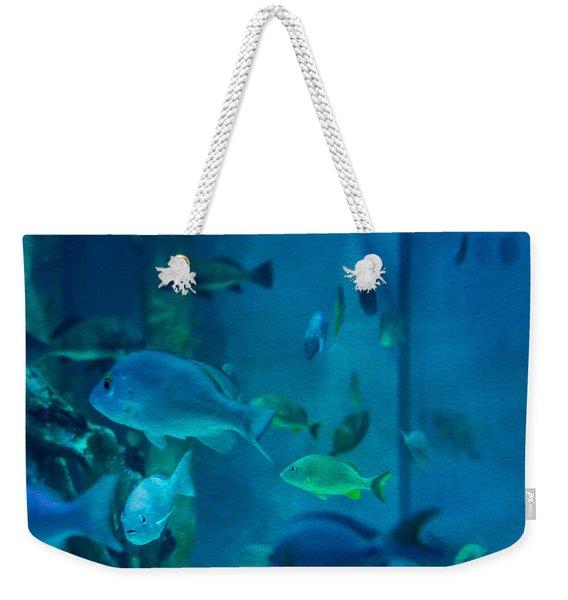 Aquarium View Weekender Tote Bag