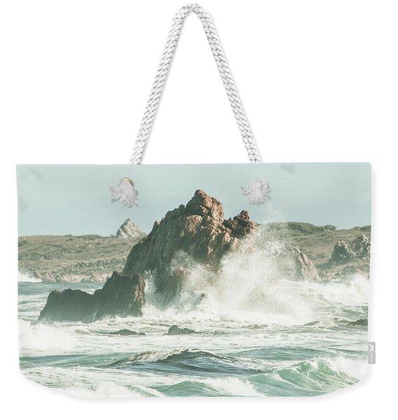 Aquatic Spray Weekender Tote Bag