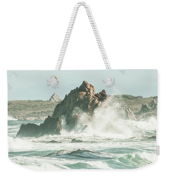 Aquatic Spray Weekender Tote Bag