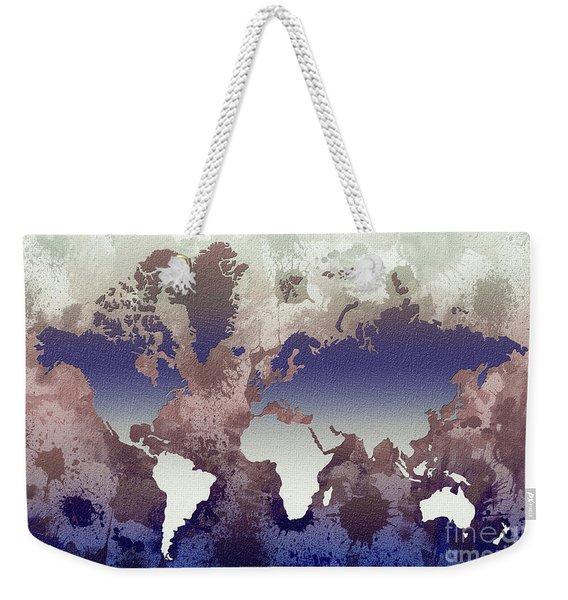 Aquatic World Map Weekender Tote Bag