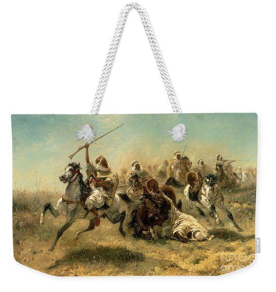 Arab Horsemen On The Attack Weekender Tote Bag