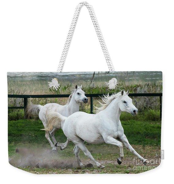 Arabian Horses Running Weekender Tote Bag