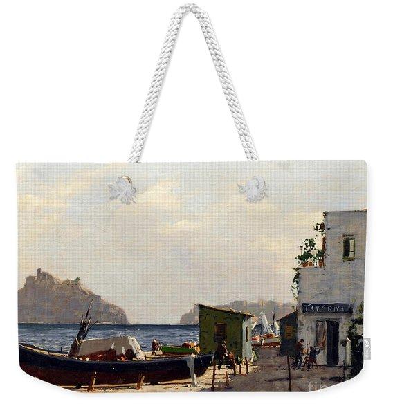 Aragonese's Castle - Island Of Ischia Weekender Tote Bag