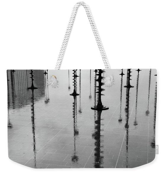 Arbres Lumineux In The Rain Paris  Weekender Tote Bag