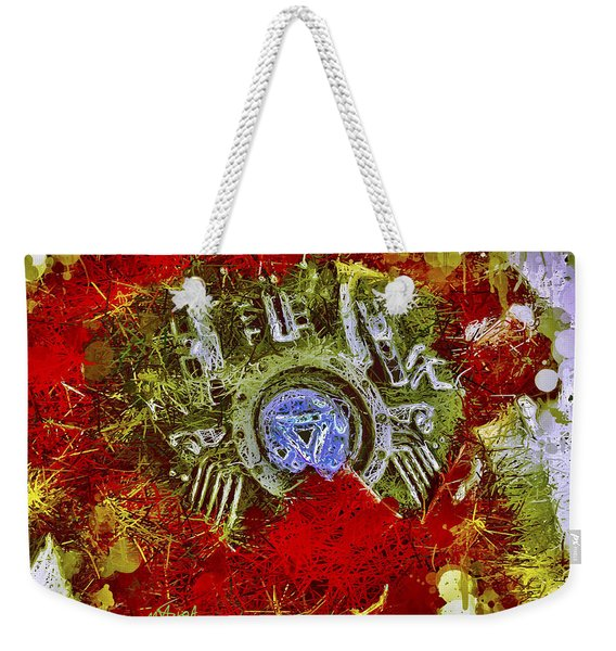 Weekender Tote Bag featuring the mixed media Iron Man 2 by Al Matra
