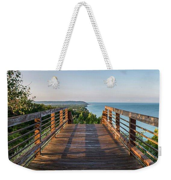 Arcadia Panorama In Morning Weekender Tote Bag