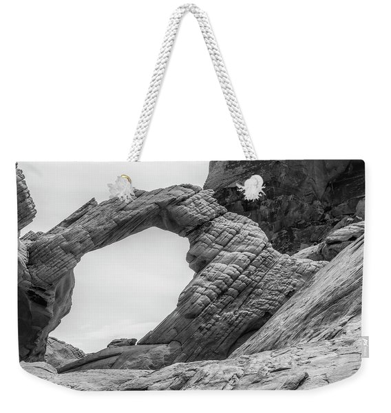 Arch Rock Black And White Weekender Tote Bag