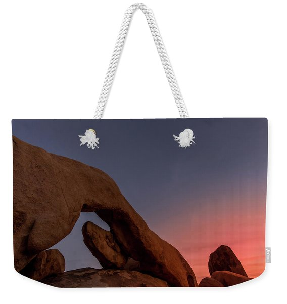 Arch Rock Sunset Weekender Tote Bag