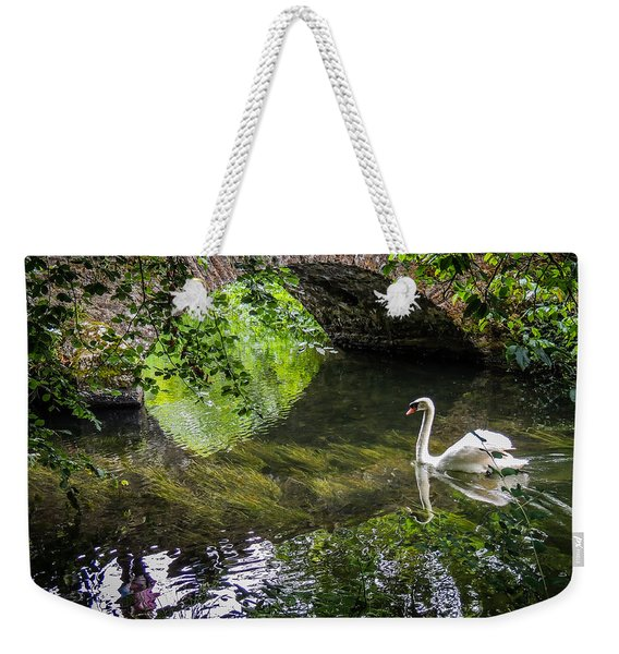 Arched Bridge And Swan At Doneraile Park Weekender Tote Bag