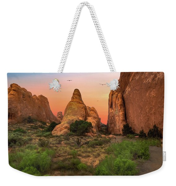 Arches National Park Sunset Weekender Tote Bag