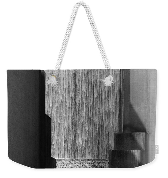 Architectural Waterfall In Black And White Weekender Tote Bag