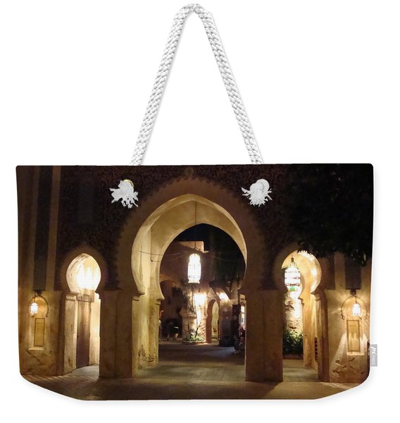 Archways At Night Weekender Tote Bag