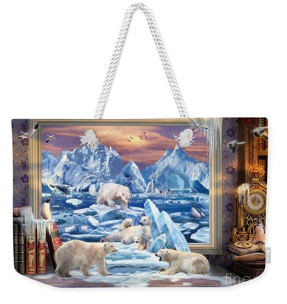 Arctic Bears Coming Weekender Tote Bag