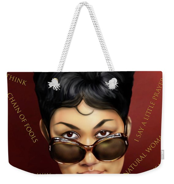 Aretha Franklin Ain't Nothing Like The Real Thing Weekender Tote Bag