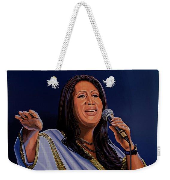 Aretha Franklin Painting Weekender Tote Bag