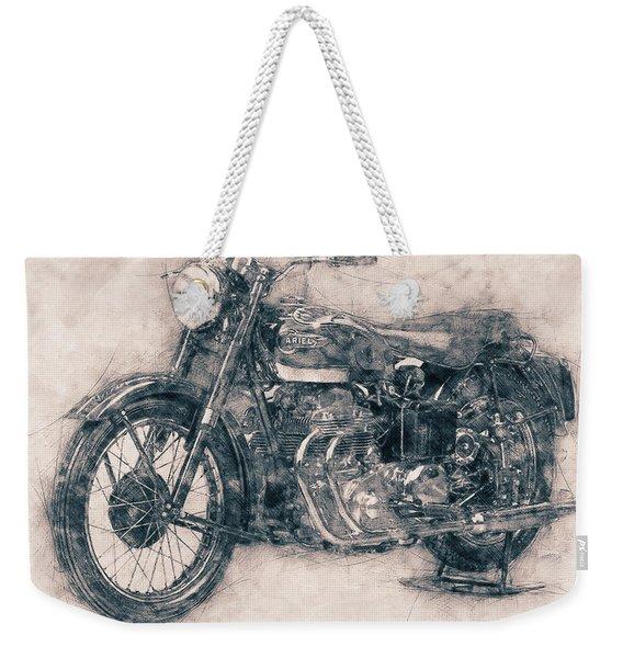 Ariel Square Four - 1931 - Vintage Motorcycle Poster - Automotive Art Weekender Tote Bag
