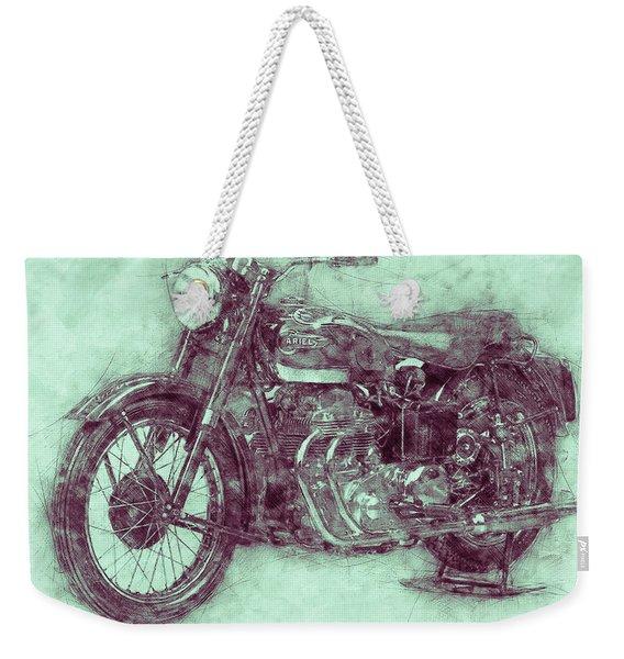 Ariel Square Four 3 - 1931 - Vintage Motorcycle Poster - Automotive Art Weekender Tote Bag
