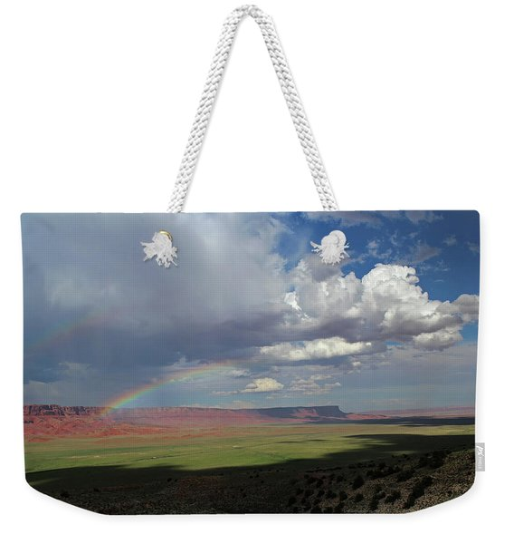 Arizona Double Rainbow Weekender Tote Bag