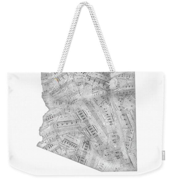Arizona Map Music Notes Weekender Tote Bag