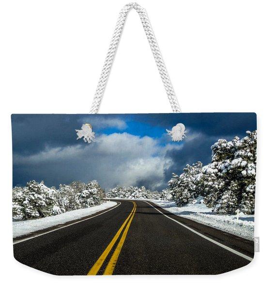 Arizona Snow Road Weekender Tote Bag