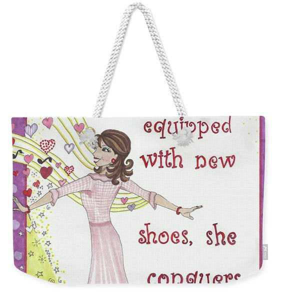 Armed With A Manicure Weekender Tote Bag